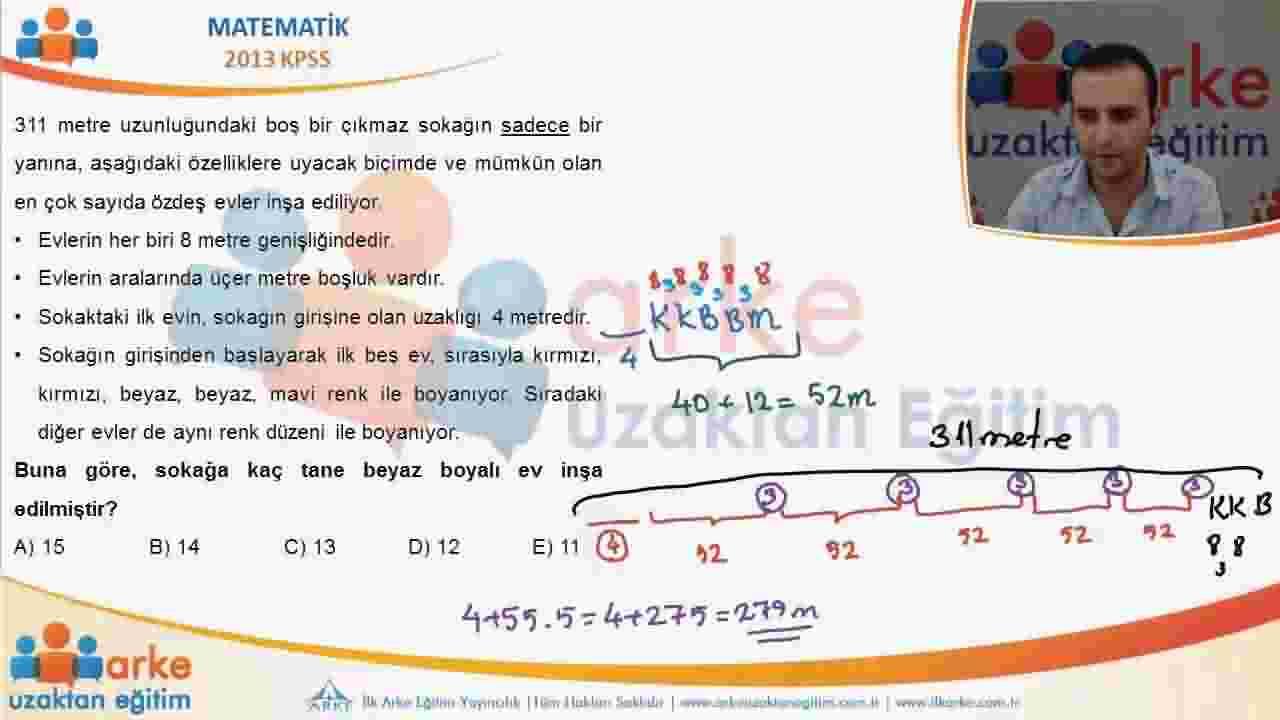 2013 KPSS Matematik Soru Çözümleri