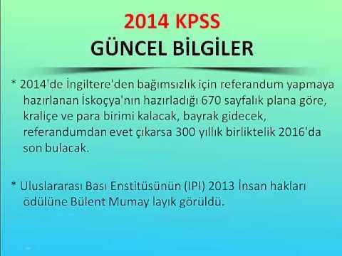 2014 KPSS Güncel Bilgiler Videosu