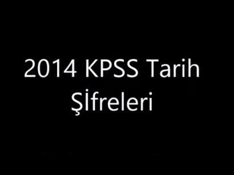 2014 KPSS Tarih Şifreleri, Kodlamaları