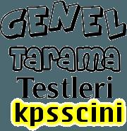 KPSS Anayasa Genel Tarama Testi Çöz 2