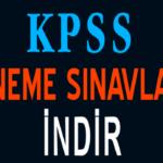 KPSS Deneme Sınavı İndir