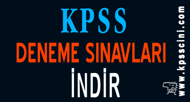 KPSS Deneme Sınavı İndir 2020