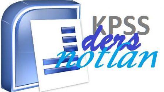 kpss-ders-notlari