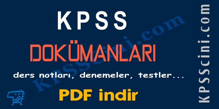 KPSS Türkçe Konu Anlatımı PDF (Tüm Konular)