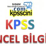 2018 KPSS Güncel Bilgiler Soru Bankası PDF İndir