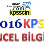 2016 KPSS Güncel Bilgiler Konu Anlatımı PDF indir