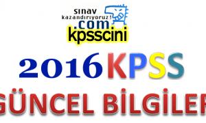 KPSS Güncel Bilgiler PDF İNDİR (2015 – 2016)