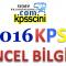 2016 KPSS Güncel Bilgiler Olaylar