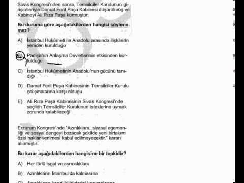 KPSS Kongreler Dönemi Çıkmış Soru Çözümleri