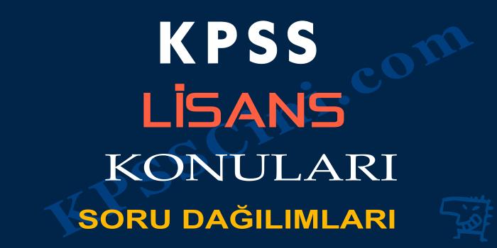 KPSS Lisans Türkçe Konuları ve Soru Dağılımı