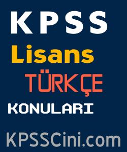 kpss lisans turkce konulari