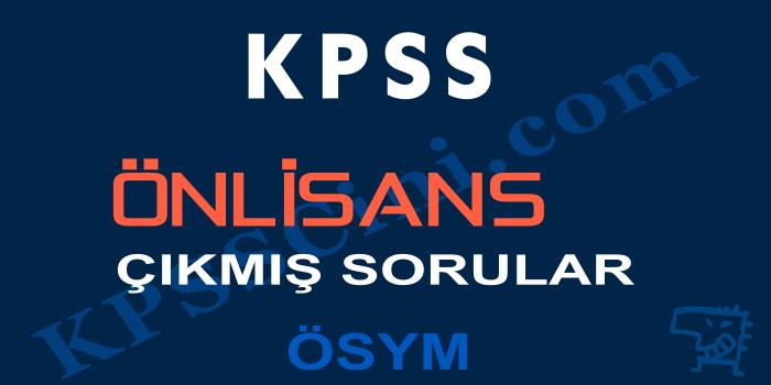 KPSS Önlisans Çıkmış Sorular PDF İndir