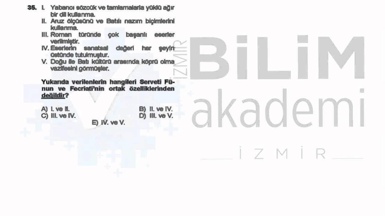 ÖABT Edebiyat TG Deneme Sınavı Soru Çözümleri