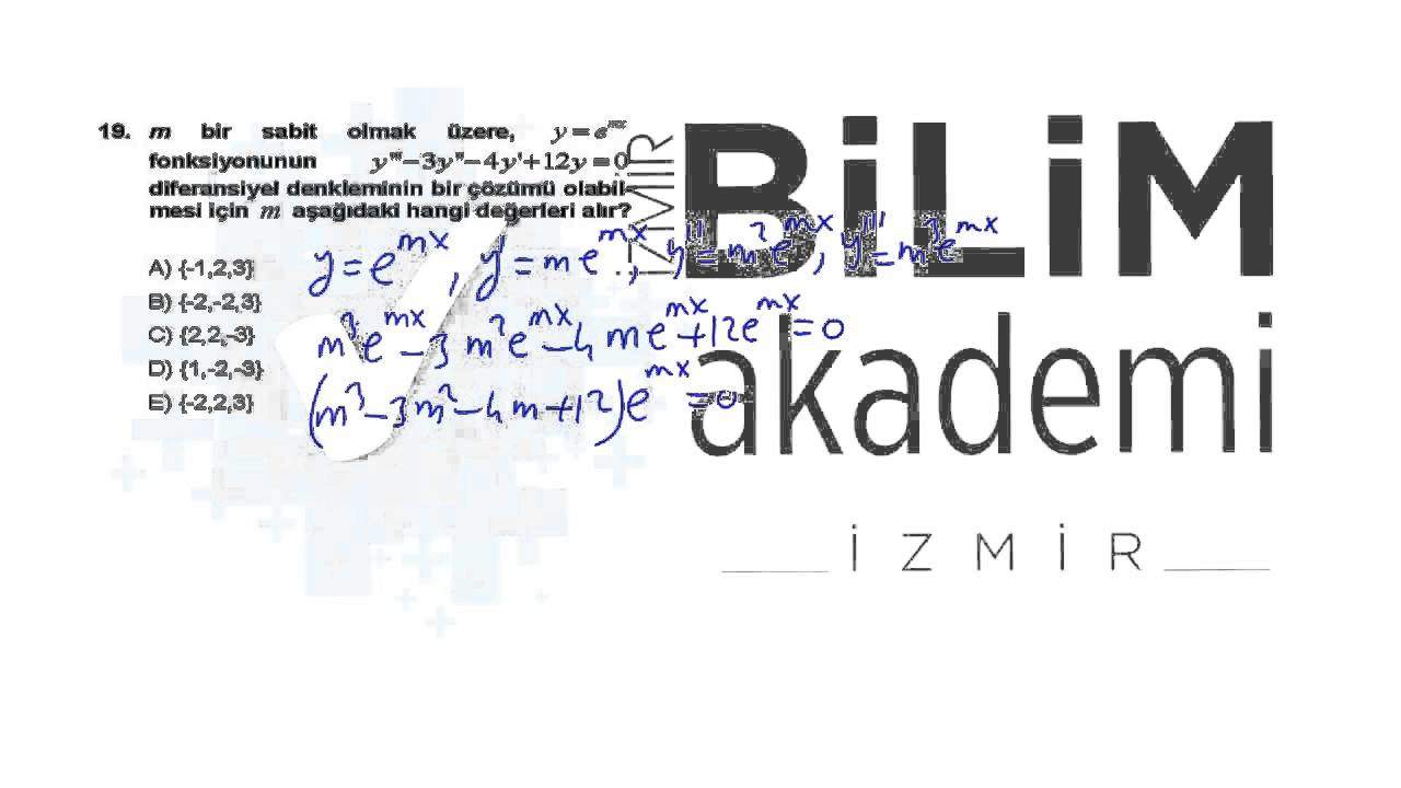 ÖABT Lise Matematik Videolu Soru Çözümleri 2