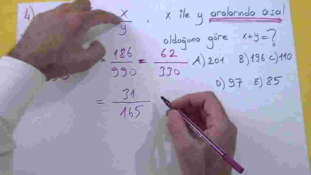 Rasyonel Sayılar Örnek Sorular ve Çözümleri