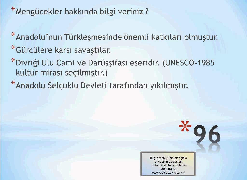 Türk İslam Devletleri Videolu Konu Anlatımı