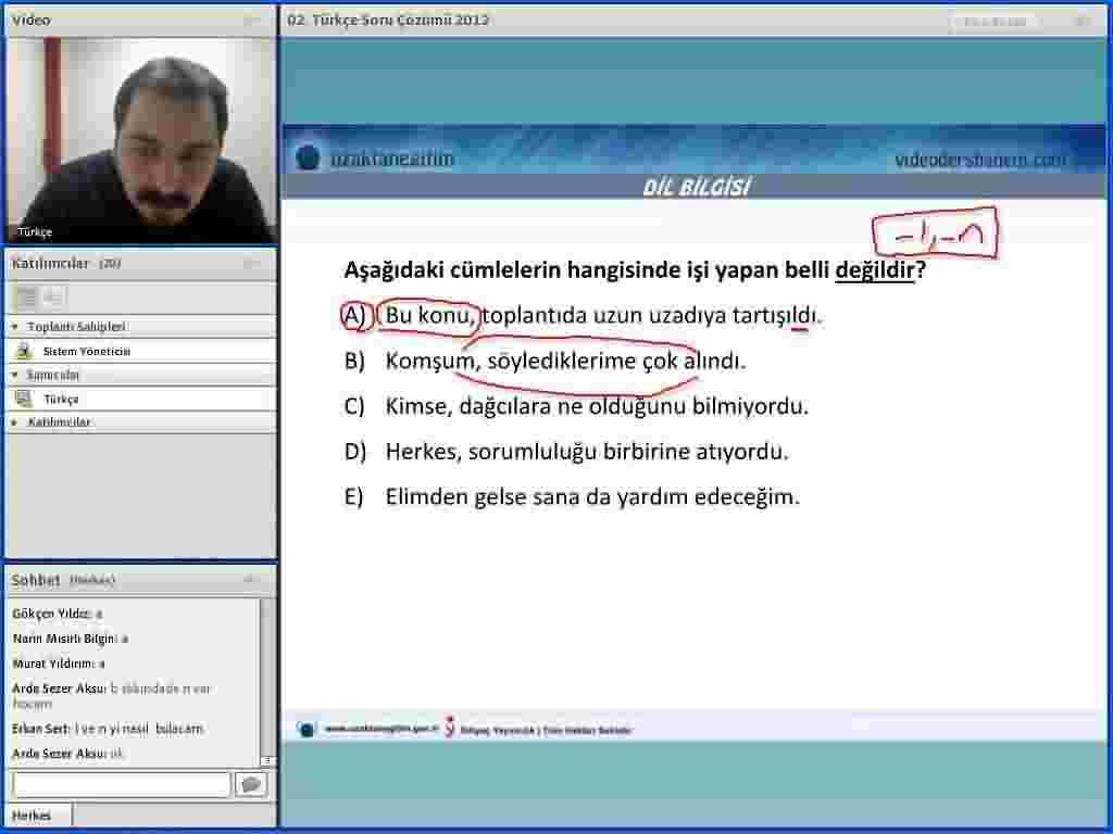 Türkçe 100 Test Soru Çözümü