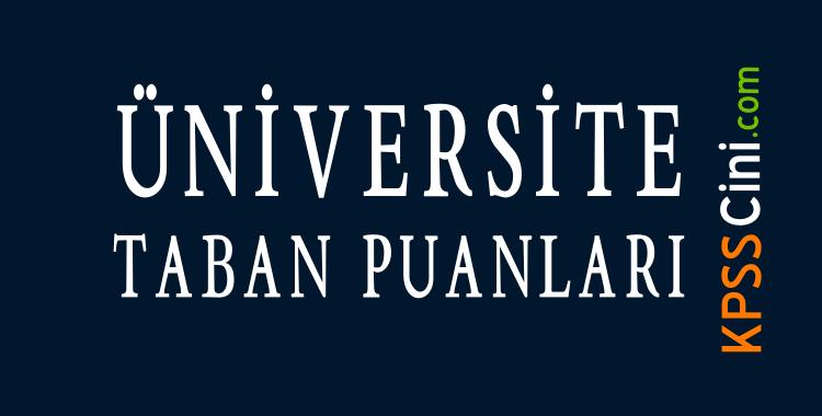 2 yillik universite bolumleri ve taban